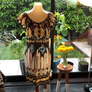 Eci Silk Printed Dress